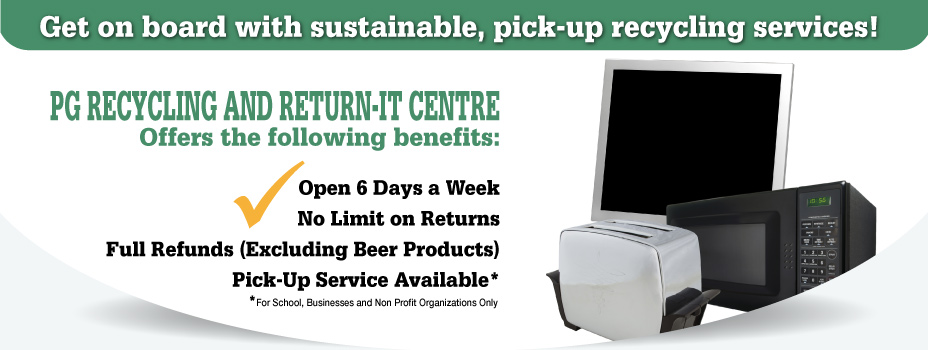 PG Recycling and Return-It Centre | Recycling Service